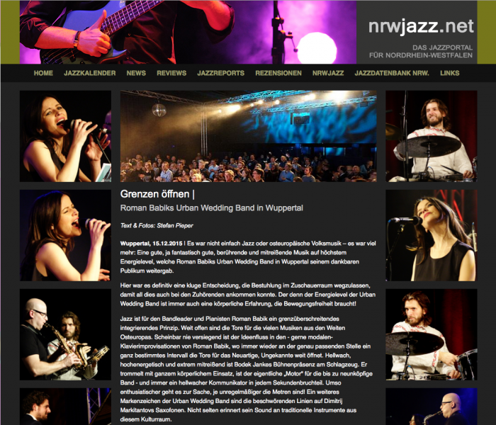 NRW Jazz Review Urban Wedding Band XXL